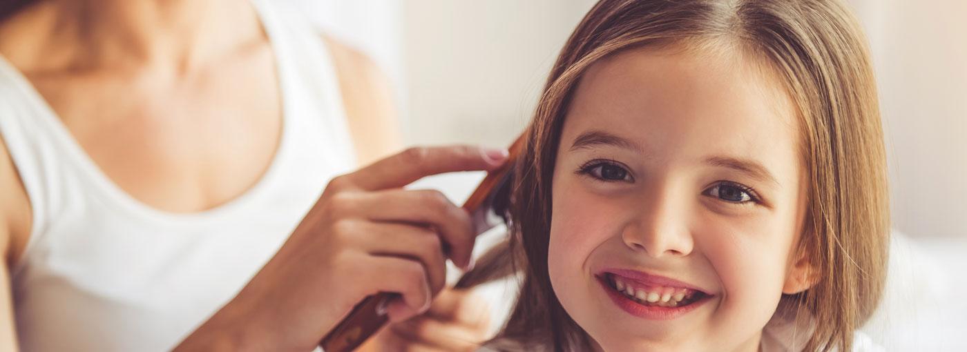 cudiado del cabello en los niños